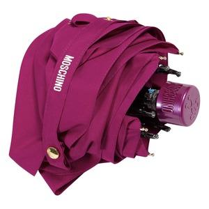 Зонт складной Moschino 8014-superminiX Couture! Bordeaux фото-5