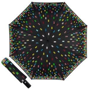Зонт складной Moschino 8017-OCA Letters Black фото-1