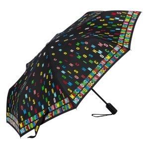 Зонт складной Moschino 8017-OCA Letters Black фото-2