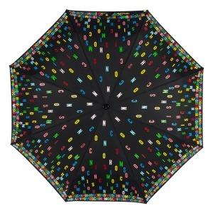 Зонт складной Moschino 8017-OCA Letters Black фото-3