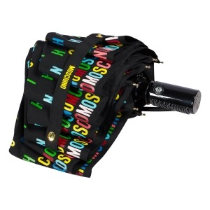 Зонт складной Moschino 8017-OCA Letters Black фото-4
