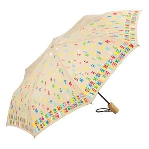 Зонт складной Moschino 8017-OCD Letters Dark Beige фото-2