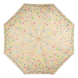 Зонт складной Moschino 8017-OCD Letters Dark Beige фото-3