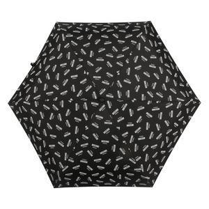 Зонт складной Moschino 8018-SUPERMINIA Logo Black фото-3