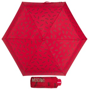 Зонт складной Moschino 8018-SUPERMINIC Logo Red фото-1