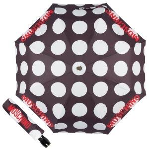 Зонт складной Moschino 8023-OCA Giant pois Black фото-1