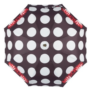 Зонт складной Moschino 8023-OCA Giant pois Black фото-3
