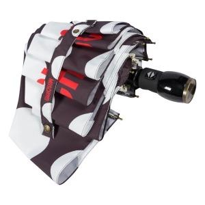 Зонт складной Moschino 8023-OCA Giant pois Black фото-4