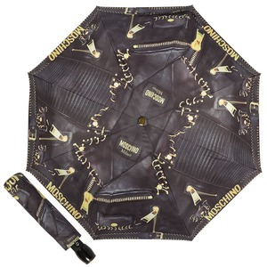 Зонт складной Moschino 8038-OCA Biker Piercing Black фото-1
