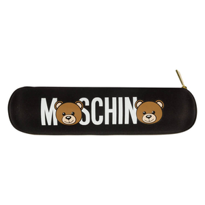 Зонт складной Moschino 8041-OCA Bear Logo Black фото-6