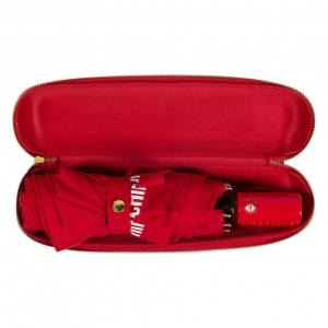Зонт складной Moschino 8041-OCC Bear Logo Red фото-5