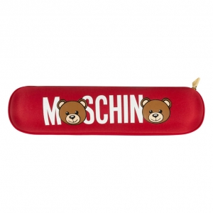 Зонт складной Moschino 8041-OCC Bear Logo Red фото-6