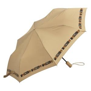 Зонт складной Moschino 8041-OCD Bear Logo Dark Beige фото-2