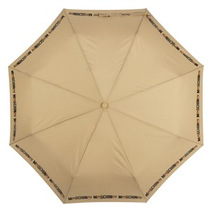 Зонт складной Moschino 8041-OCD Bear Logo Dark Beige фото-3