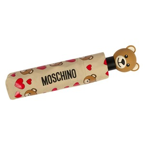 Зонт складной Moschino 8048-OCD Bear Hearts Allover Dark Beige фото-5
