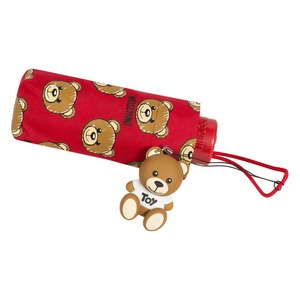 Зонт складной Moschino 8067-SuperminiC Brush Bear Allover Red фото-4