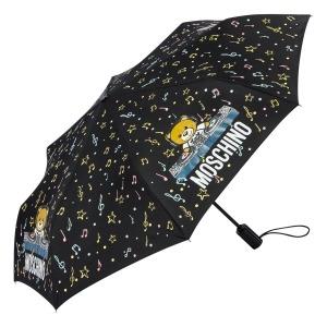 Зонт складной Moschino 8069-OCA DJ bear Black фото-2