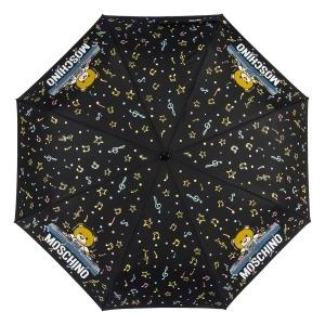 Зонт складной Moschino 8069-OCA DJ bear Black фото-3