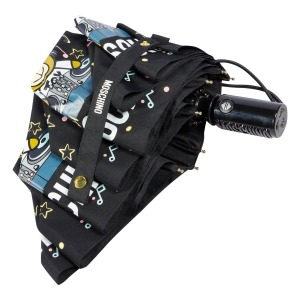 Зонт складной Moschino 8069-OCA DJ bear Black фото-4