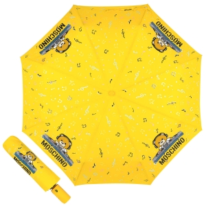 Зонт складной Moschino 8069-OCU DJ bear Yellow фото-1