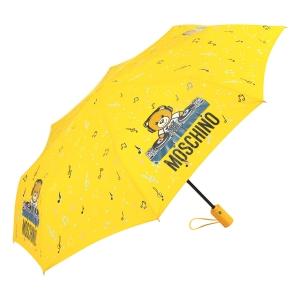 Зонт складной Moschino 8069-OCU DJ bear Yellow фото-2