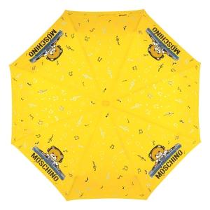 Зонт складной Moschino 8069-OCU DJ bear Yellow фото-3