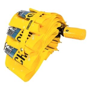 Зонт складной Moschino 8069-OCU DJ bear Yellow фото-4