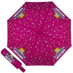 Зонт складной Moschino 8069-OCX DJ bear Bordeaux фото-1