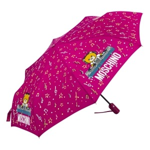Зонт складной Moschino 8069-OCX DJ bear Bordeaux фото-2