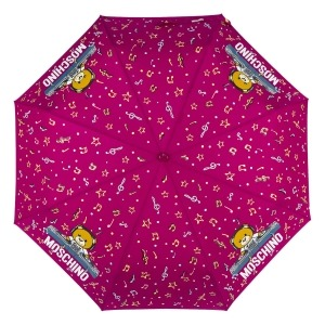 Зонт складной Moschino 8069-OCX DJ bear Bordeaux фото-3