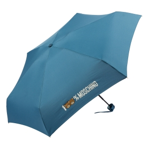 Зонт складной Moschino 8071-SuperminiR 100% Moschino Petrol Blue фото-2