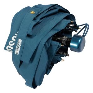 Зонт складной Moschino 8071-SuperminiR 100% Moschino Petrol Blue фото-4