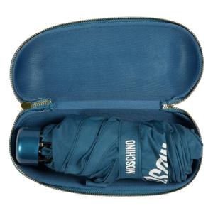 Зонт складной Moschino 8071-SuperminiR 100% Moschino Petrol Blue фото-5