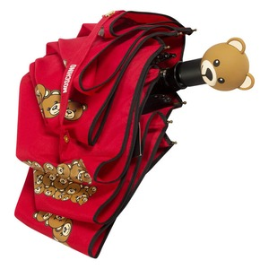 Зонт складной Moschino 8120-OCC Big Bear Letters Red фото-4