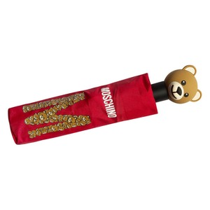 Зонт складной Moschino 8120-OCC Big Bear Letters Red фото-5