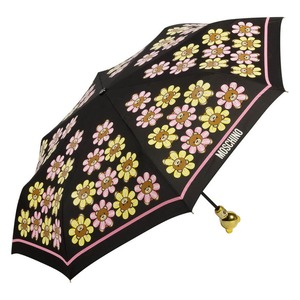Зонт складной Moschino 8126-OCA Flower Bear Black фото-2