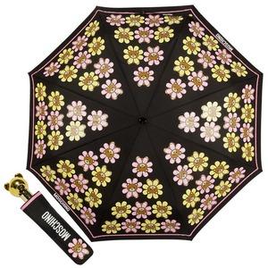 Зонт складной Moschino 8126-OCA Flower Bear Black фото-1