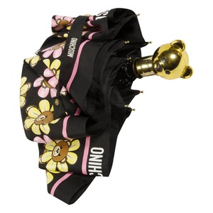 Зонт складной Moschino 8126-OCA Flower Bear Black фото-4