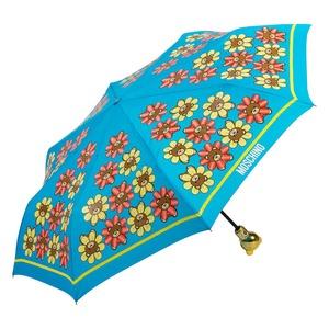 Зонт складной Moschino 8126-OCP Flower Bear Light Blue фото-2
