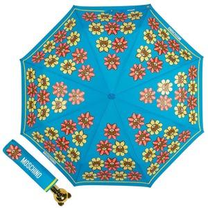 Зонт складной Moschino 8126-OCP Flower Bear Light Blue фото-1