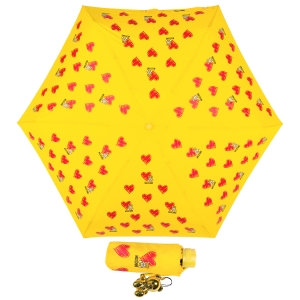 Зонт складной Moschino 8127-superminiU Hearts and bears Yellow фото-1