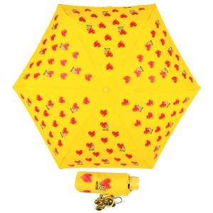 Зонт складной Moschino 8127-superminiU Hearts and bears Yellow фото-1