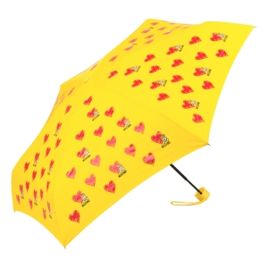 Зонт складной Moschino 8127-superminiU Hearts and bears Yellow фото-2