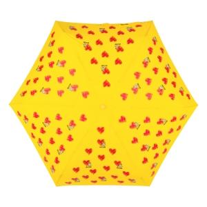 Зонт складной Moschino 8127-superminiU Hearts and bears Yellow фото-3