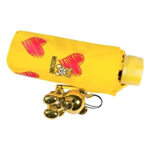Зонт складной Moschino 8127-superminiU Hearts and bears Yellow фото-6