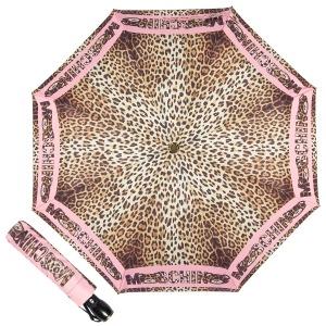 Зонт складной Moschino 8138-OCN Leo Bear Pink фото-1