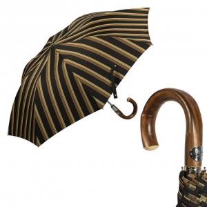Зонт складной Pasotti Auto Chestnut Alfred Marrone фото-1