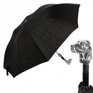 Зонт складной Pasotti Auto Fido Cell Black фото-1