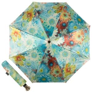 Зонт складной Pasotti Auto Gerbera Sky Lux фото-1