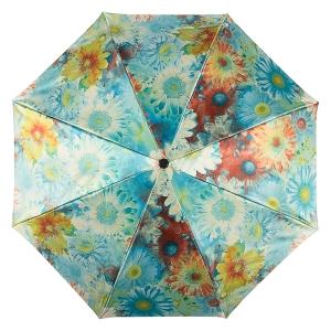 Зонт складной Pasotti Auto Gerbera Sky Lux фото-3